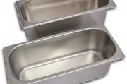 Bacinelle gelato in acciaio inox disponibili in diverse misure
